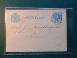 37/625   BRIEFKAART 1879   NAAR ANTWERPEN - Postal Stationery