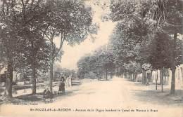 44 - St-Nicolas-de-Redon - Avenue De La Digue Bordant Le Canal De Nantes à Brest - Autres Communes
