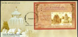 India 2013 Architectual Heritage - Srikurmam & Arsavalli Temple Hindu Mythology M/s On FDC Inde Indien - Hinduism