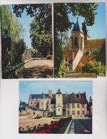 3 CPM  DPT 58 VARZY, LA MAIRIE, L EGLISE Et LES PROMENADES - France