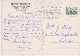 """De Panne , La Panne """"Hotel Terlinck - Dique De Mer  - Zeedijk """" - De Panne"""
