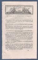 BULLETIN DES LOIS AN V - CONSPIRATION ROYALISTE / COUP D´ETAT DU 18 FRUCTIDOR ADRESSE AUX COMMUNES ET AUX ARMEES - - Décrets & Lois