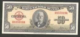 [NC] BANCO NATIONAL De CUBA - 50 PESOS (SERIE De 1958) - Cuba