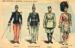 Militaria - Les Armées D'Europe - Le Salut De L'épée - Illustrateur C Morel - Uniformes