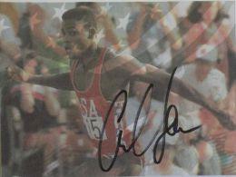 CARTE BRISTOL - Carl LEWIS - Dédicace - Signé - Hand Signed - Autographe Authentique  - - Athletics
