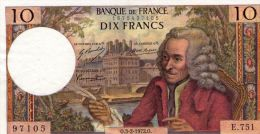 10 Fr Voltaire 03/02/1972 - 10 F 1963-1973 ''Voltaire''