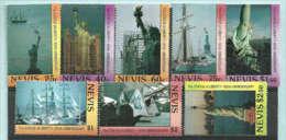 Centième Anniversaire De La Statue De La Liberté A New-York. 8 T-p Neufs ** De L`ILE NEVIS (CARAÏBES) - Monuments