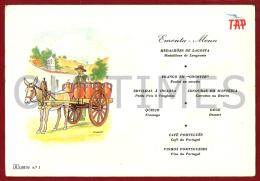 PORTUGAL - COSTUMES - CARRO DA AGUA DE MONCHIQUE - EMENTA TAP - 1960 ADVERTISING PC - Advertising