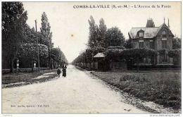 77- COMBS-la-VILLE-L´ Avenue De La Foret- Animée- - Combs La Ville