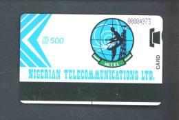 NIGERIA  -  Magnetic Autelca Phonecard/500 Units As Scan