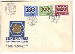 GOOD PORTUGAL FDC 1962 - EUROPA CEPT - 1910-... República