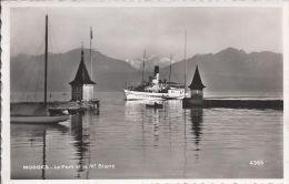 8553 - Morges Le Port Et Le Mt Blanc Vapeur Entrant Dans Le Port - VD Vaud
