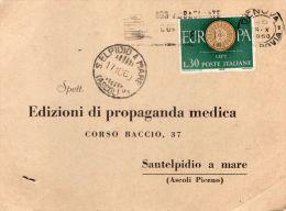 1960 LETTERA INTESTATA CON ANNULLO S. ELPIDIO A MARE ASCOLI P - 1946-60: Marcophilia