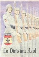 LA DIVISION AZUL LAMINA COMPLETA DE CUPONES DE RACIONAMIENTO - AÑO 1940 - PONTEDEUME LA CORUÑA - [ 3] 1936-1975 : Régence De Franco