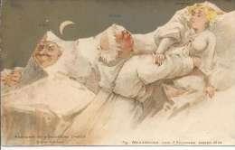 8561 - Surréaliste F. Killinger Nachtscene Ein Prähistorischer Ekkehard Scène Nocturne - Arts