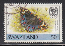 Swaziland Used Scott #513 50c Eyed Pansy - Butterflies - Swaziland (1968-...)