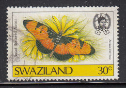 Swaziland Used Scott #510 30c Broad Bordered Acraea - Butterflies - Swaziland (1968-...)