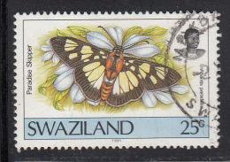 Swaziland Used Scott #509 25c Paradise Skipper - Butterflies - Swaziland (1968-...)