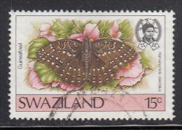 Swaziland Used Scott #507 15c Guineafowl - Butterflies - Swaziland (1968-...)