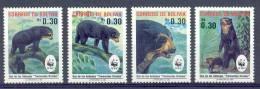 Mpr113s WWF FAUNA ZOOGDIEREN BEER BEREN SPECTACLED BEAR MAMMALS BOLIVIA 1991 PF/MNH - W.W.F.