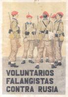 VOLUNTARIOS FALANGISTAS CONTRA RUSIA - LAMINA COMPLETA ORIGINAL DE CUPONES DE RACIONAMIENTO - [ 3] 1936-1975 : Régence De Franco