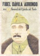 FIDEL DAVILA ARRONDO - LAMINA COMPLETA DE CUPONES DE RACIONAMIENTO - LLANES ASTURIAS - [ 3] 1936-1975 : Régence De Franco