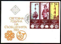 BULGARIA / BULGARIE - 1983 - Anne Mondiale De La Communications - FDC - U.P.U.