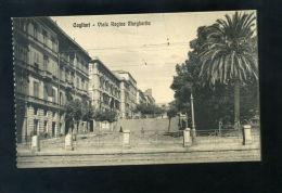 T1342 CARTOLINA CAGLIARI VIALE REGINA MARGHERITA FP. NV. - Cagliari