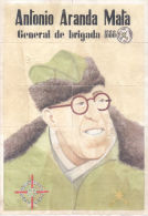 ANTONIO ARANDA MATA - GENERAL DE BRIGADA - CUBELLES BARCELONA - LAMINA COMPLETA DE CUPONES DE RACIONAMIENTO - [ 3] 1936-1975 : Regency Of Franco