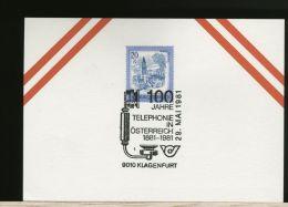 OSTERREICH  -  100 Jahre TELEPHONE  In Osterreich  -  TELEPHON -  KLAGENFURT - Telecom