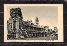 """43792    Cambogia,    Ruines  D""""Angkor  -  Angkor-Vath  -  Facade  Nord  Des  Galeries  Du  2e Etage,  NV - Cambogia"""