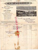 75- PARIS -  FACTURE TH. PILTER 24 RUE ALIBERT- USINE A NEVERS- 1919 A CHATEAU DE BESSE M. DE BOISSIEUX SAINT MAUR CULAN - 1900 – 1949