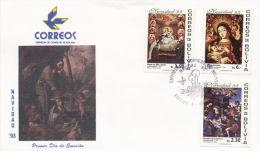Christmas, 1993,Navidad,Virgin, First Day, Beautiful Condition - Bolivië
