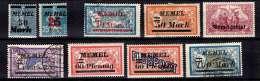 Memel Petite Collection Neufs **/* Et Oblitérés Entre 1920 Et 1922. TB. A Saisir! - Unused Stamps