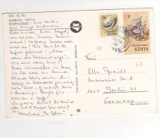 "Beaux  Timbres Yvert N° 38 , 43  "" Coquillages ""   / Carte Du 30/12/76 - Kenya (1963-...)"