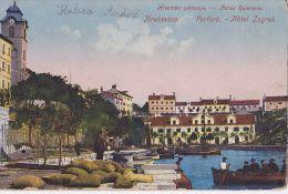 KR39   --  KRALJEVICA  --  PORTORE  --  HOTEL  ,, ZAGREB ,,  --  ZENSUR  --  1916 - Kroatien