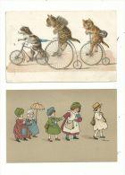 2 CP .couleur  (vers 1900).... BELLE ILLUSTRATION ....à ...voir. - Unclassified