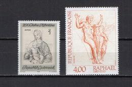 Austria / France 1969/83 Paintings Raphael - Raffael 2 Stamps MNH - Arts