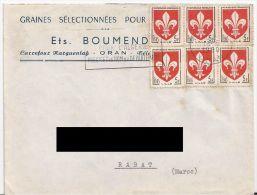 Lettre D'Oran Pour Le Maroc. (Voir Commentaires) - Algerije (1924-1962)