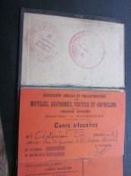 1921 Carte D'identité A. Élie (Corsica) Mutilés,réformés,veuve S,orphelins Grande Guerre Mazargues Marseille - Documents Historiques