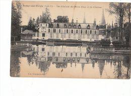 91 SOISY Sur ECOLE  Jolie Vue Du CHATEAU Et Son Reflet Dans La Pièce D' Eau 1923 - Frankreich