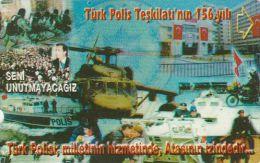 Turkey, N-159a,  156th ANNV. OF Police Organization, Seni Unutmayacagiz, Helicopter, 2 Scans.   Plasteknik - Türkei