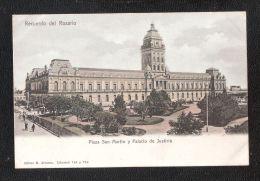 ARGENTINA Recuerdo Del Rosario Plaza San Martin Y Palacio De Justicia DOS SIMPLE  NON CIRCULADA - Argentina