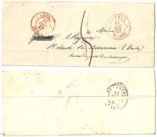 Faltbrief  Genève - St.Claude Près Besançon F          1847 - Schweiz