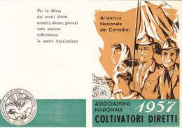 TESSERA ASSOCIAZIONE NAZIONALE COLTIVATORI DIRETTI  ANNO 1957- VEDI - Collections