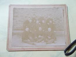 1895 1896 MILITAIRE REGIMENT à Déterminer Photos Soldats Au Dos Leur Noms Et Provenance Grade Et Suivi - Photos