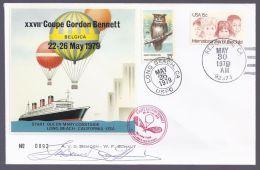 """Amérique - Enveloppe """"XXVIIe Coupe Gordon BENNETT - BELGICA"""" LONG BEACH -  22-26 MAY 1979 - Amérique Centrale"""