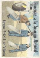 HOMENAJE A LA AVIACION NACIONAL - LAMINA COMPLETA DE CUPONES DE RACIONAMIENTO - BARRUNDIA ALAVA - [ 3] 1936-1975 : Regency Of Franco