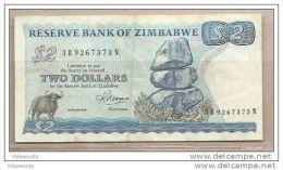 Zimbabwe - Banconota Circolata Da 2 Dollari - 1983 - Zimbabwe