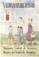 NACIONALSINDICALISMO - LAMINA COMPLETA DE CUPONES DE RACIONAMIENTO - AÑO 1940 QUINTANILLA DE ONESIMO VALLADOLID - [ 3] 1936-1975 : Regency Of Franco
